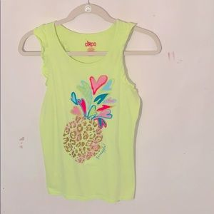 Yellow tank top by Circo with a colored pineapple